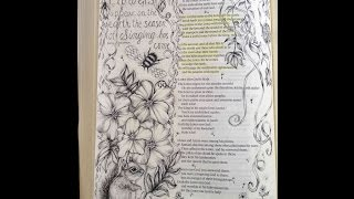 Bible Art Journaling: How to Draw Easy and Whismical Ribbons