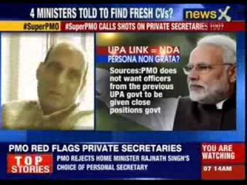 PMO vetoes private secretary picks of 4 ministers