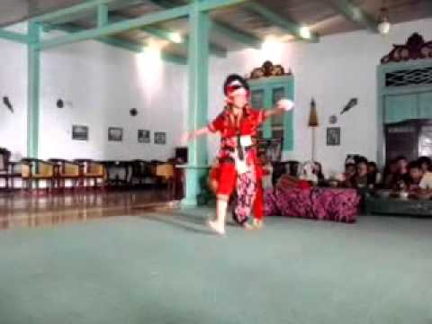 "mask dance ""Klana Ajeng"" from Cirebon, West Java Island"