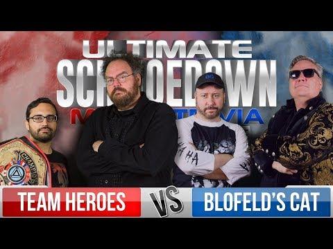 Heroes VS Blofeld's Cat - Ultimate Schmoedown Movie Trivia Team Tournament - Round 1