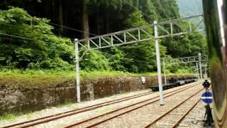 黒部渓谷鉄道 出平駅 到着