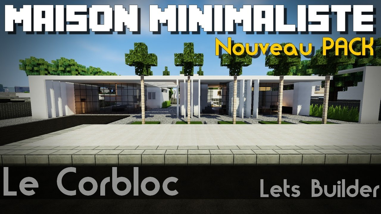 Minecraft nouveau pack update maison minimaliste youtube for Maison cubique minimaliste