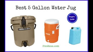 Best 5 Gallon Water Jug (2020 Buyers Guide)