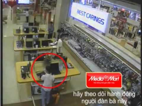 Trộm laptop tai siêu thị.wmv