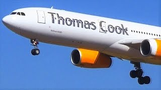 Thomas Cook Airbus A330-343 - 3 Landings, 2 Takeoffs from Rhodes - ATC Comms - LGRP Close Views!