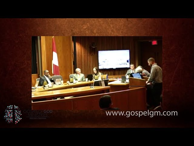 Gospel of God Ministries Leader Zacky Braddy- Speaking at The Raleigh, NC City Council