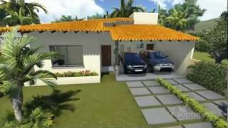 Repeat youtube video Plantas de casas - Térrea com 3 quartos e varanda gourmet - Cód. 104  - Soprojetos.com.br