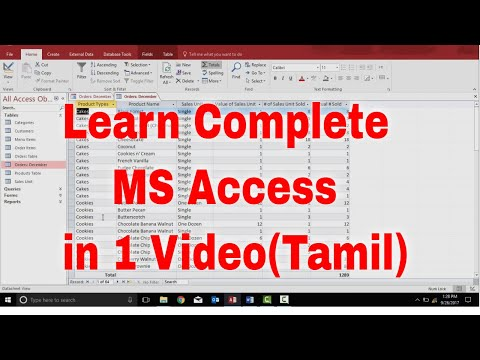 Complete MS Access In 1 Video | MS Access In Tamil | Microsoft Access