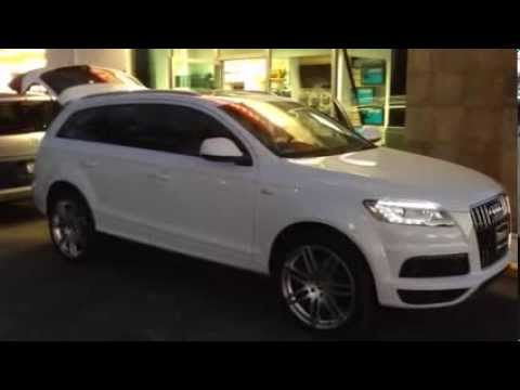 Audi Q7 Upgraded subwoofer JL AUDIO 10TW3-D4 Shallow in spare tire AUDIO  SYSTEM