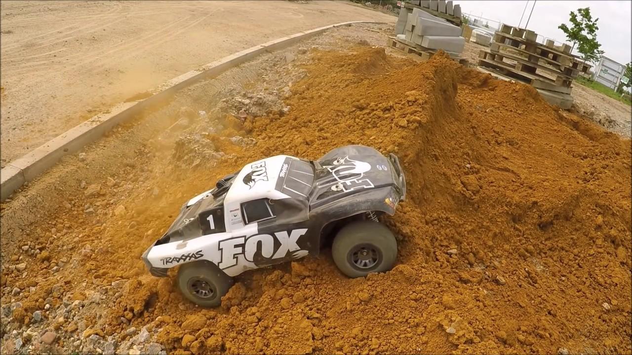 Traxxas Slash 4x4 Fox Edition 3s Lipo Building Site!