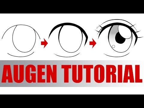 MANGA AUGEN zeichnen in 3 EINFACHEN SCHRITTEN Tutorial (Deutsch)