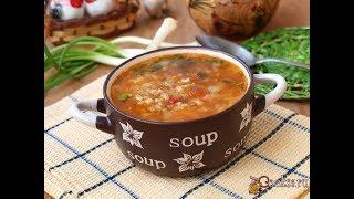 Рисовый суп с чечевицей и томатами