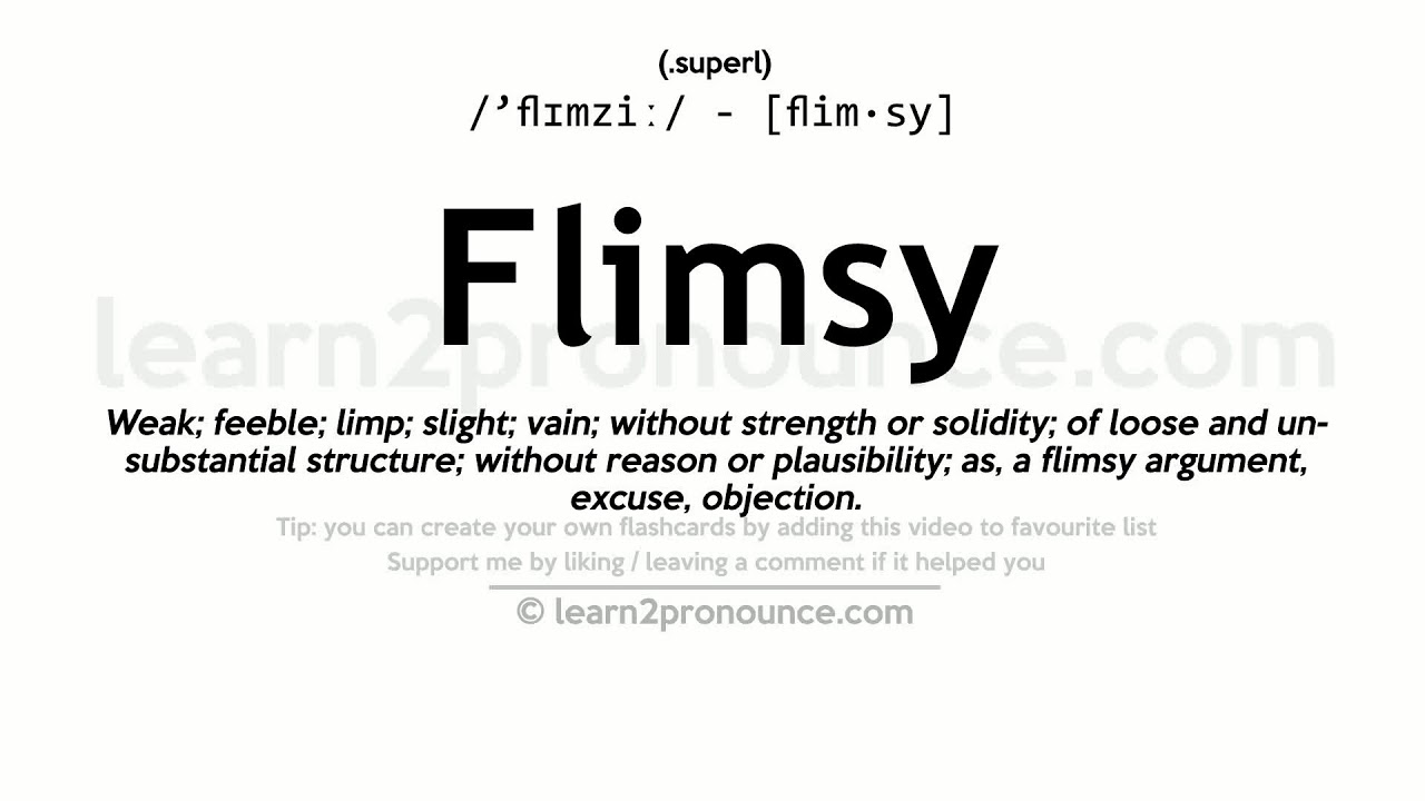 Elegant Flimsy Pronunciation And Definition