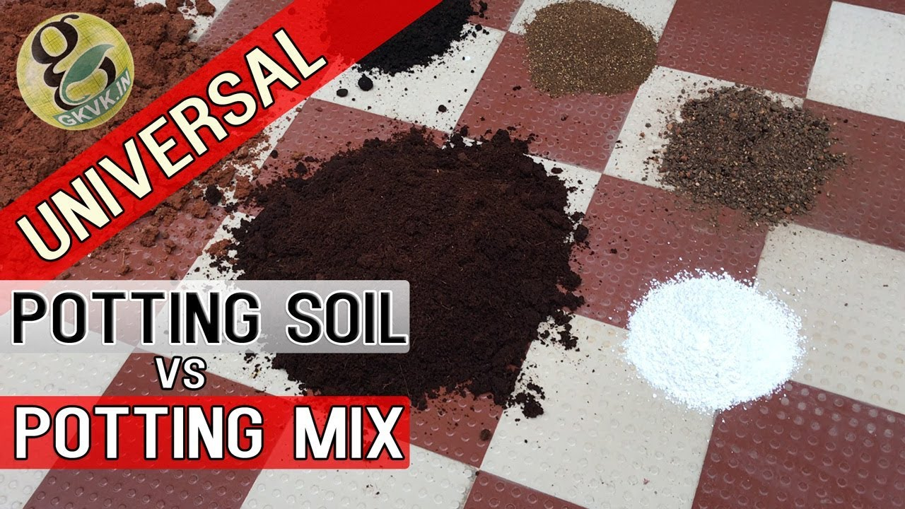 Universal potting soil vs potting mix differences how to for Topsoil vs potting soil