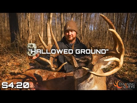 """S4 EP20 """"HALLOWED GROUND"""" HUGE TYPICAL BUCK shot with a bow from  GROUND BLIND! Late season bowhunt"""