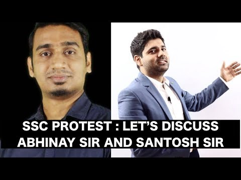SSC PROTEST : Let's Discuss With Abhinay Sir And Santosh Sir