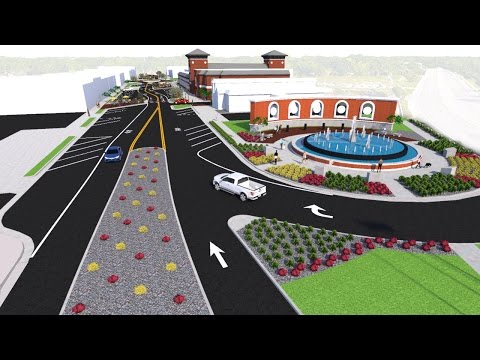 City of Jacksonville, NC  New Downtown Concept Flythrough