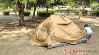 桃源戶外6-7 人豪華透氣家庭帳篷-搭設教學