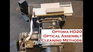 Optoma HD20 Main Optics Cleaning