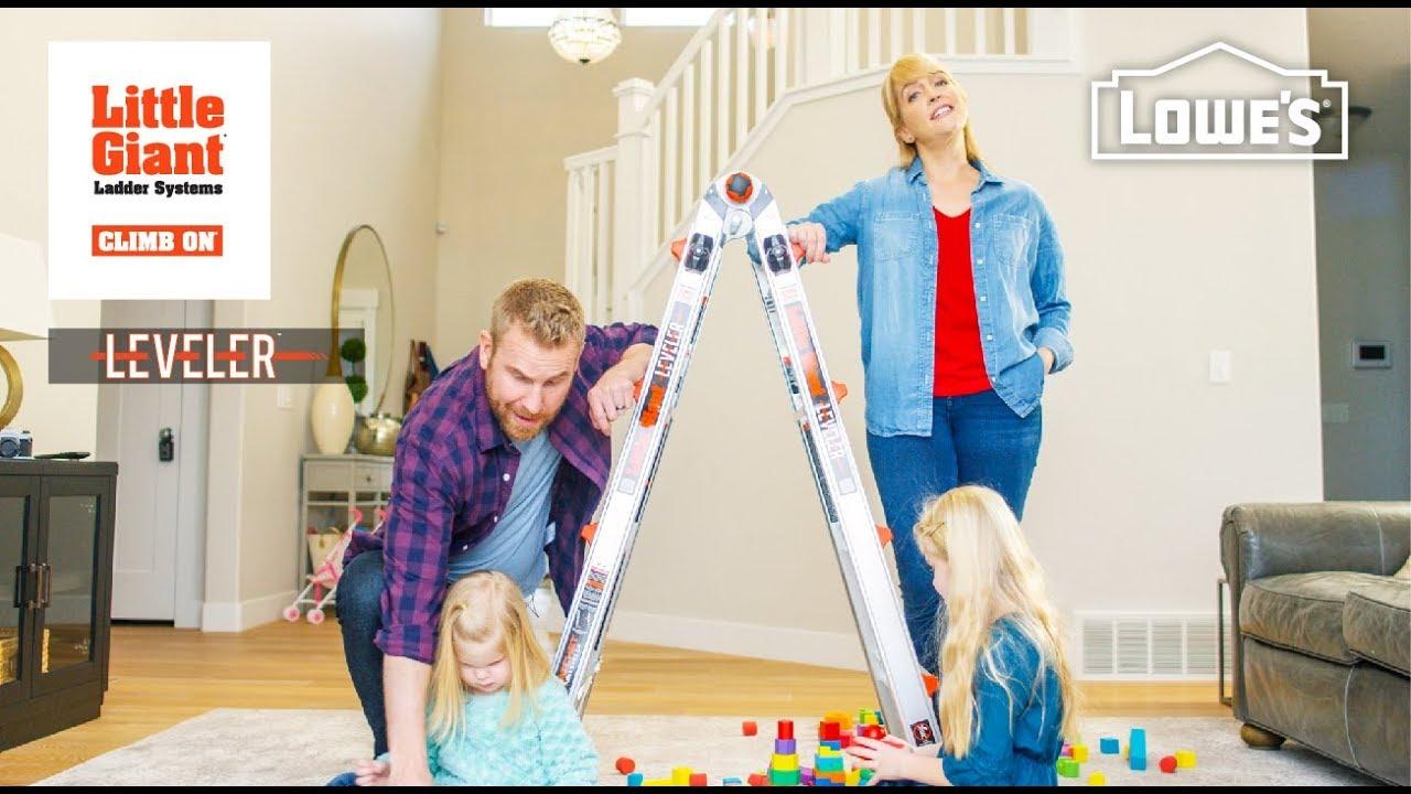 little giant ladders lowes leveler youtube