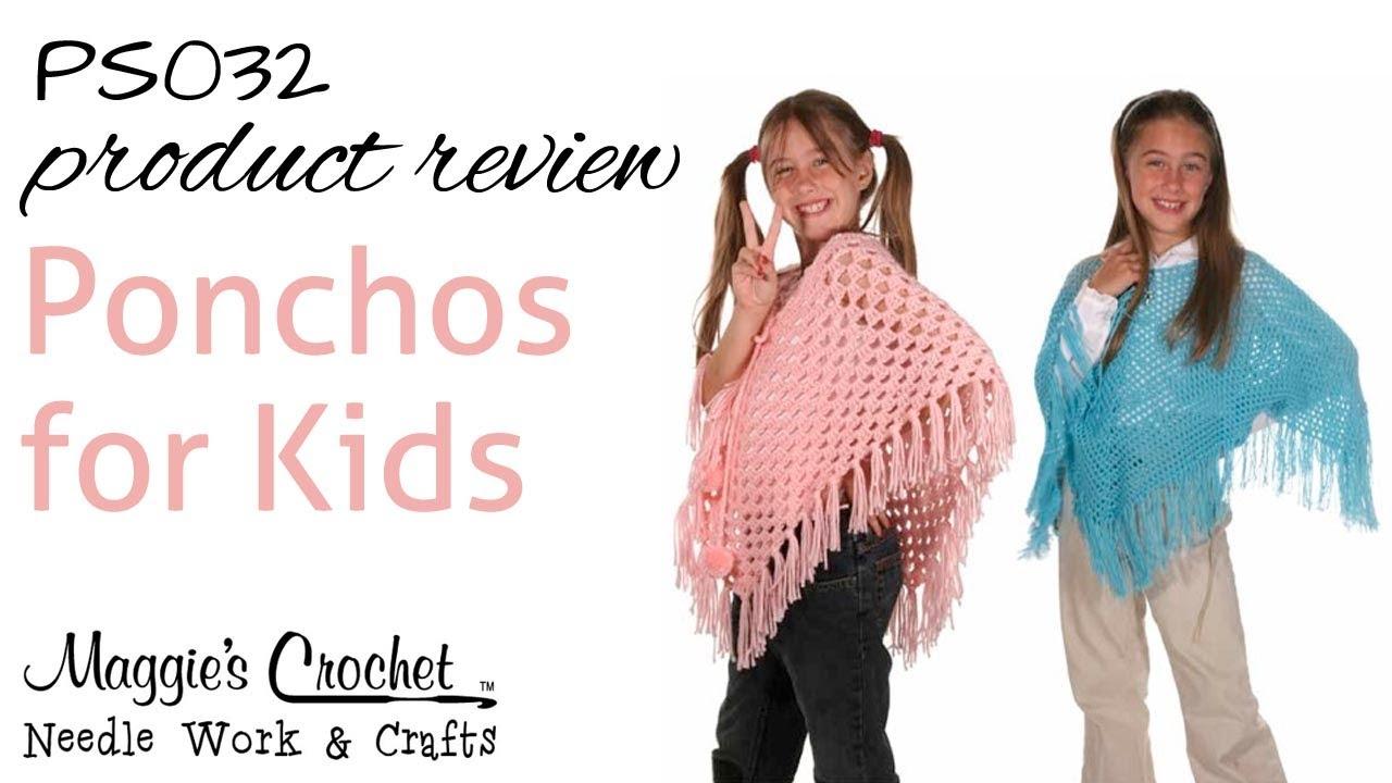 Crochet free pattern poncho teen