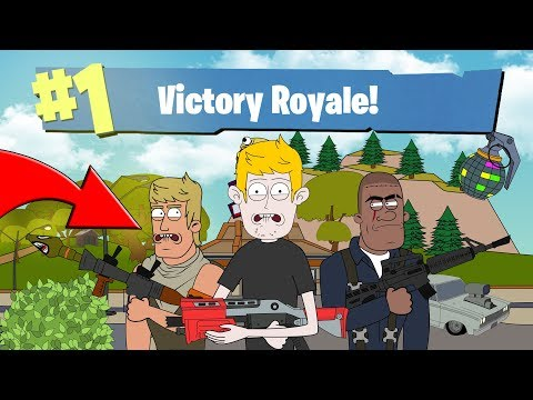 FIRST TIME PLAYING: FORTNITE BATTLE ROYALE (ANIMATED)