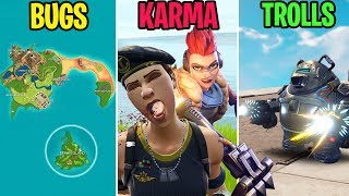 Noob Gets PUNCHED TO DEATH! BUGS vs KARMA vs TROLLS - Fortnite Funny Moments (Battle Royale)