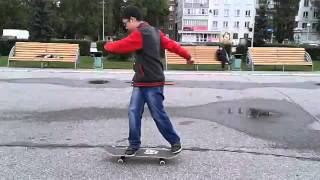 как делать фронтсайд/трюки на скейте