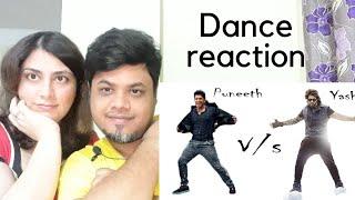 #Puneeth #Yash Puneeth rajkumar vs Yash dance Reaction|Foreigner Reaction|North Indian Reaction|
