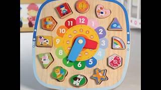 Đồ chơi gỗ chính hãng- Đồng hồ ghép hình đa năng Montessori Boby