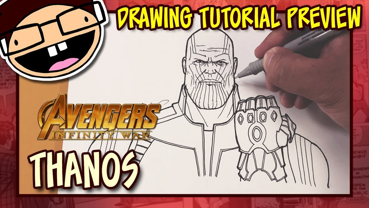 Preview How To Draw Thanos Avengers Infinity War