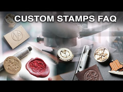 Custom stamp FAQ • wax seals and leather stamps
