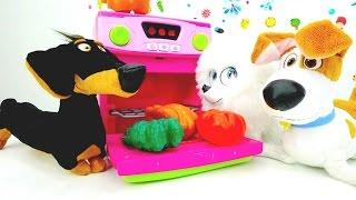Видео про игрушки Тайная жизнь - Гиджет кормит Макса