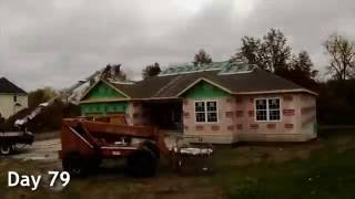 House Being Built Start To Finish - Timelapse