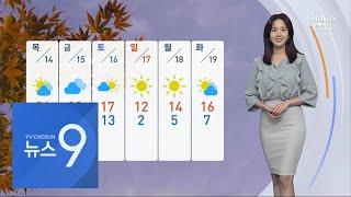 일교차 큰 가을 날씨…주말 기온 '뚝' [뉴스 9]