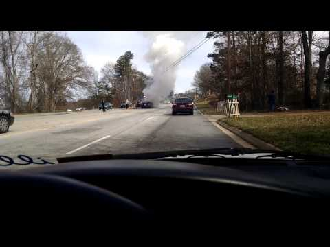 Car on fire on 221 in Chesnee