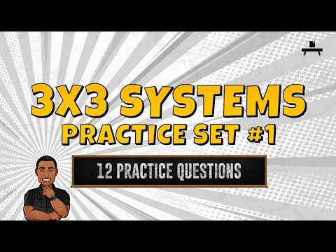 Algebra: 3x3 Systems Practice Set #1