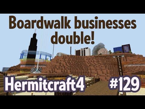 Boardwalk businesses double! — Hermitcraft 4 ep 129