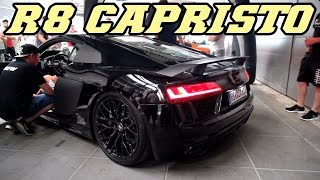 Audi R8 V10 Capristo exhaust - Revving valves open and closed
