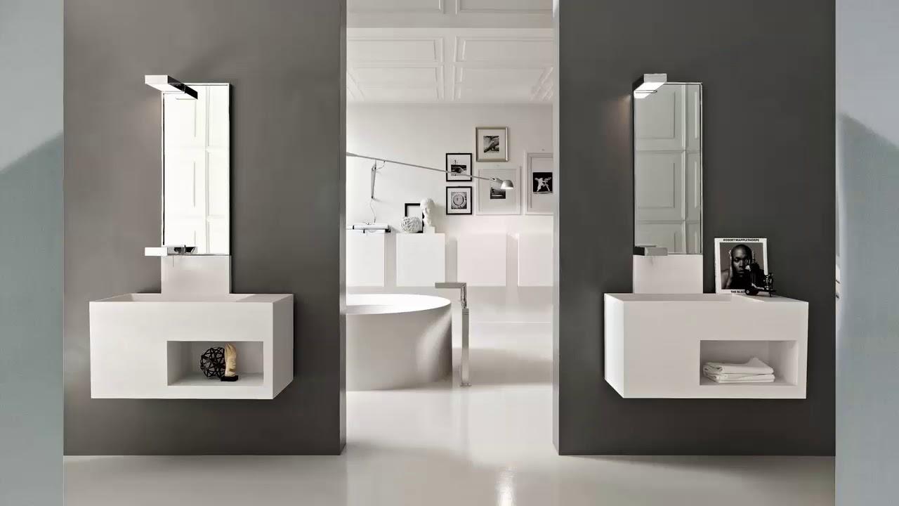 moderne badezimmer wände ideen
