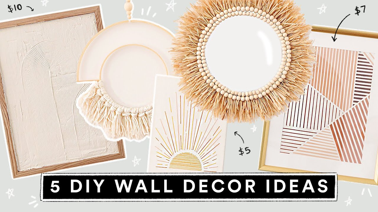 5 DIY WALL ART DECOR IDEAS ✨ Easy, Aesthetic + Affordable!