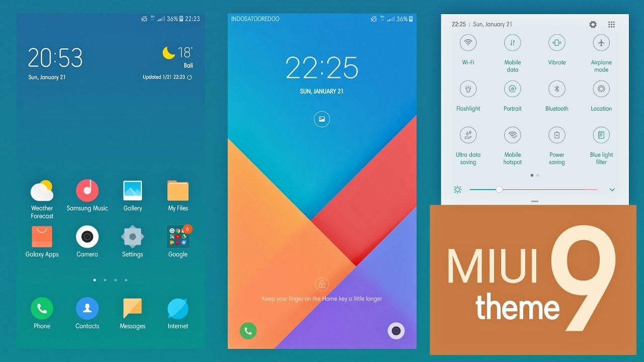 miui 9 theme | Samsung Galaxy Theme
