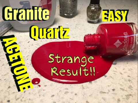 How to Remove Nail Polish Stains on Quartz or Granite Countertop with Acetone