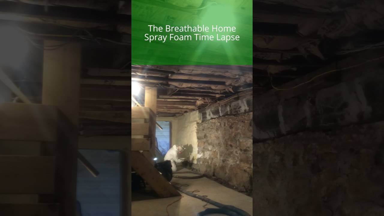 Basement Spray Foam Insulation Time Lapse | Central Maine