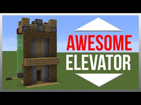 Minecraft 1.12: Redstone Tutorial - Elevator!