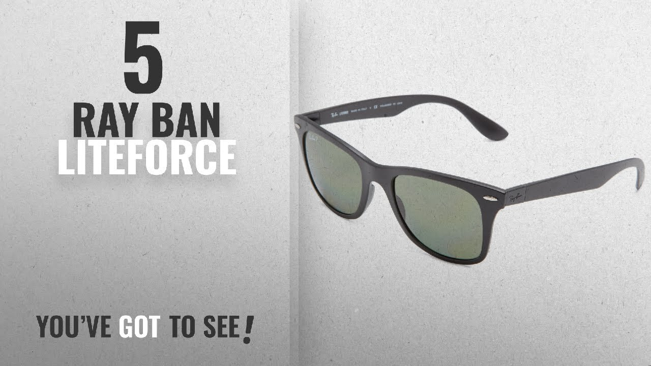 bfbec22fc9e Top 10 Ray Ban Liteforce   Winter 2018    Ray-Ban WAYFARER LITEFORCE ...