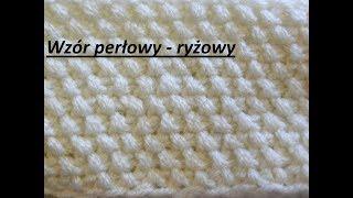 0170* Wzór perłowy - ryżowy*Wzory  na drutach dla początkujących*Dzierganie