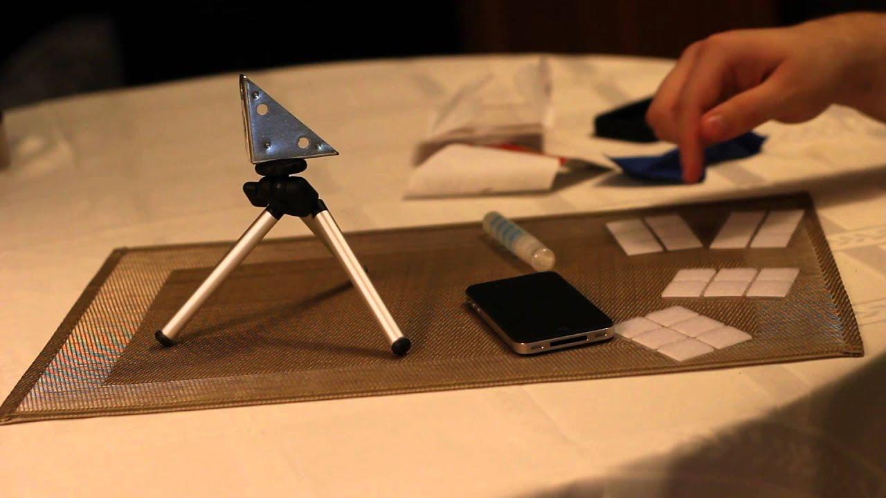 1.76$ DIY iPhone 4S tripod adapter - YouTube