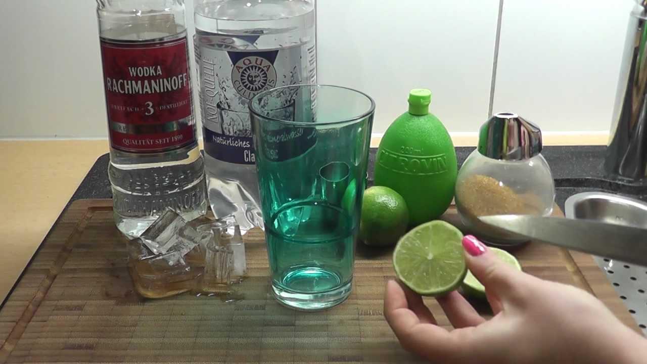 cocktail rezept mit wodka caipiroska youtube. Black Bedroom Furniture Sets. Home Design Ideas