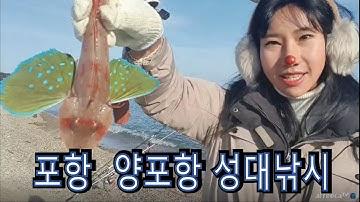 [물꼬양 원투낚시]포항 양포항 성대 낚시/꽁치미끼 사용하기/걸어다니는성대/겨울에도 잘나오는 물고기/냉수대어종/원투낚시